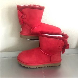 UGGS Boots Bailey II VELVET bow Ribbon size 7
